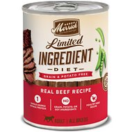 Merrick Grain-Free Limited Ingredient Diet Beef Recipe Canned Dog Food, 12.7 oz, case of 12