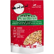 PureBites Holiday Turkey & Sweet Potato Freeze-Dried Dog Treats, 2.5-oz bag