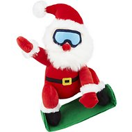 Petlou Holiday Plush Snowboard Santa Dog Toy