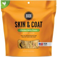 BIXBI Skin & Coat Chicken Jerky Dog Treats, 12-oz bag