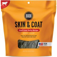 BIXBI Skin & Coat Beef Liver Jerky Dog Treats, 12-oz bag
