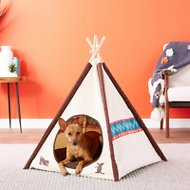 P.L.A.Y. Pet Lifestyle and You Dog & Cat Teepee Tent, Classic Eggshell