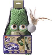 Hartz Just For Cats Gator Cat Scratcher Toy with Catnip, Color Varies