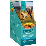 Zuke's Power Bone Beef & Blueberry Recipe Protein Bar Dog Treat, 1-oz, box of 12
