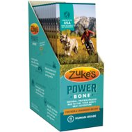 Zuke's Power Bone Chicken & Cranberry Recipe Protein Bar Dog Treat, 1-oz, box of 12