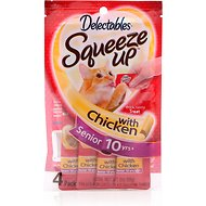 Hartz Delectables Senior Squeeze Up Chicken Lickable Cat Treat, 2.0-oz, pack of 4