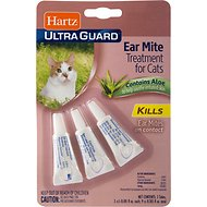 Hartz UltraGuard Ear Mite Cat Treatment, 3 count