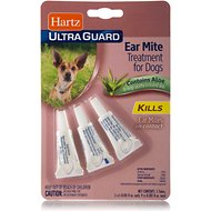 Hartz UltraGuard Ear Mite Dog Treatment, 3 count
