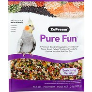 ZuPreem Pure Fun Enriching Variety Medium Bird Food, 2-lb bag