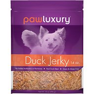 Pawluxury Duck Jerky Recipe Dog Treats, 14-oz bag