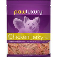 Pawluxury Chicken Fillet Jerky Dog Treats, 12-oz bag
