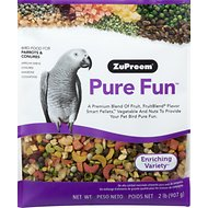 ZuPreem Pure Fun Enriching Variety Parrots & Conures Bird Food, 2-lb bag