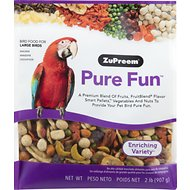 ZuPreem Pure Fun Enriching Variety Large Bird Food, 2-lb bag