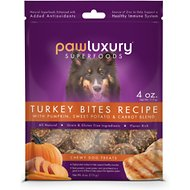 Pawluxury Turkey Bites with Pumpkin, Sweet Potato, & Carrot Blend Dog Treats, 4-oz bag