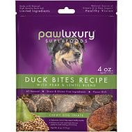 Pawluxury Duck Bites Recipe with Pear & Lentil Blend Dog Treats, 4-oz bag