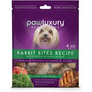 Pawluxury Rabbit Bites Recipe with Apple & Kale Blend Dog Treats, 4-oz bag