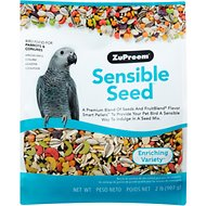 ZuPreem Sensible Seed Enriching Variety Parrots & Conures Bird Food, 2-lb bag