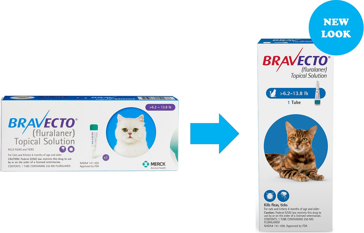 Bravecto Topical Solution For Cats 6 2 13 8 Lbs 1