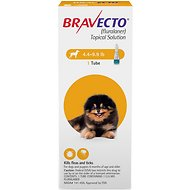 Bravecto Topical Solution for Dogs, 4.4-9.9 lbs (Yellow Box)