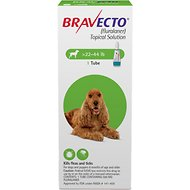 Bravecto Topical Solution for Dogs, 22-44 lbs, 1 treatment
