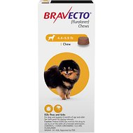 Bravecto Chews for Dogs, 4.4-9.9 lbs, 1 treatment