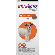 Bravecto Chews for Dogs, 9.9-22 lbs, 1 treatment