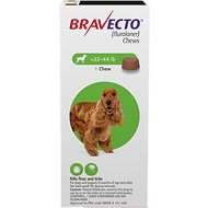 Bravecto Chews for Dogs, 22-44 lbs, 1 treatment (Green Box)