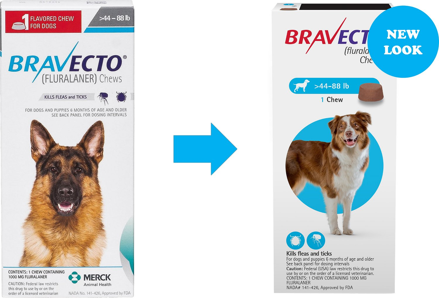 Bravecto Chews For Dogs 44 88 Lbs 1 Treatment Chewy Com
