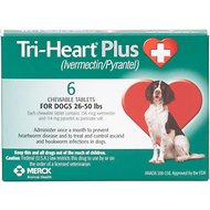 Tri-Heart Plus Chewable Tablets for Dogs, 26-50 lbs, 6 treatments