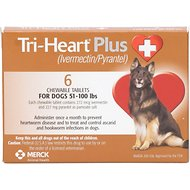 Tri-Heart Plus Chewable Tablets for Dogs, 51-100 lbs, 6 treatments
