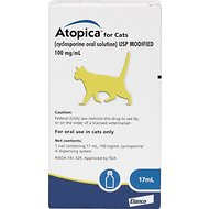 Atopica (Cyclosporine) Oral Solution for Cats, 100 mg/mL, 17-mL