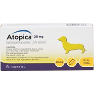 Atopica (Cyclosporine) Capsules for Dogs, 15 treatments, 25-mg (9.1-16 lbs)