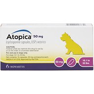 Atopica (Cyclosporine) Capsules for Dogs, 15 treatments, 50-mg (16.1-33 lbs)
