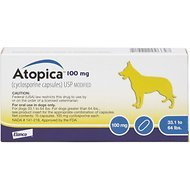 Atopica (Cyclosporine) Capsules for Dogs, 15 treatments, 100-mg (33.1-64 lbs)