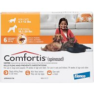 Comfortis Chewable Tablets for Dogs 10.1-20 lbs & Cats 6.1-12 lbs, 6 treatments