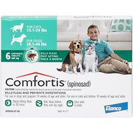 Comfortis Chewable Tablets for Dogs 20.1-40 lbs & Cats 12.1 -24.1 lbs, 6 treatments
