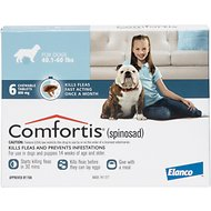 Comfortis Chewable Tablets for Dogs, 40.1-60 lbs, 6 treatments