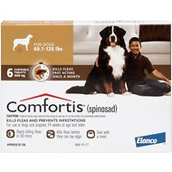 Comfortis Chewable Tablets for Dogs, 60.1-120 lbs, 6 treatments