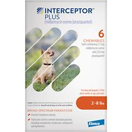 Interceptor Plus Chewable Tablets for Dogs, 2-8 lbs, 6 treatments