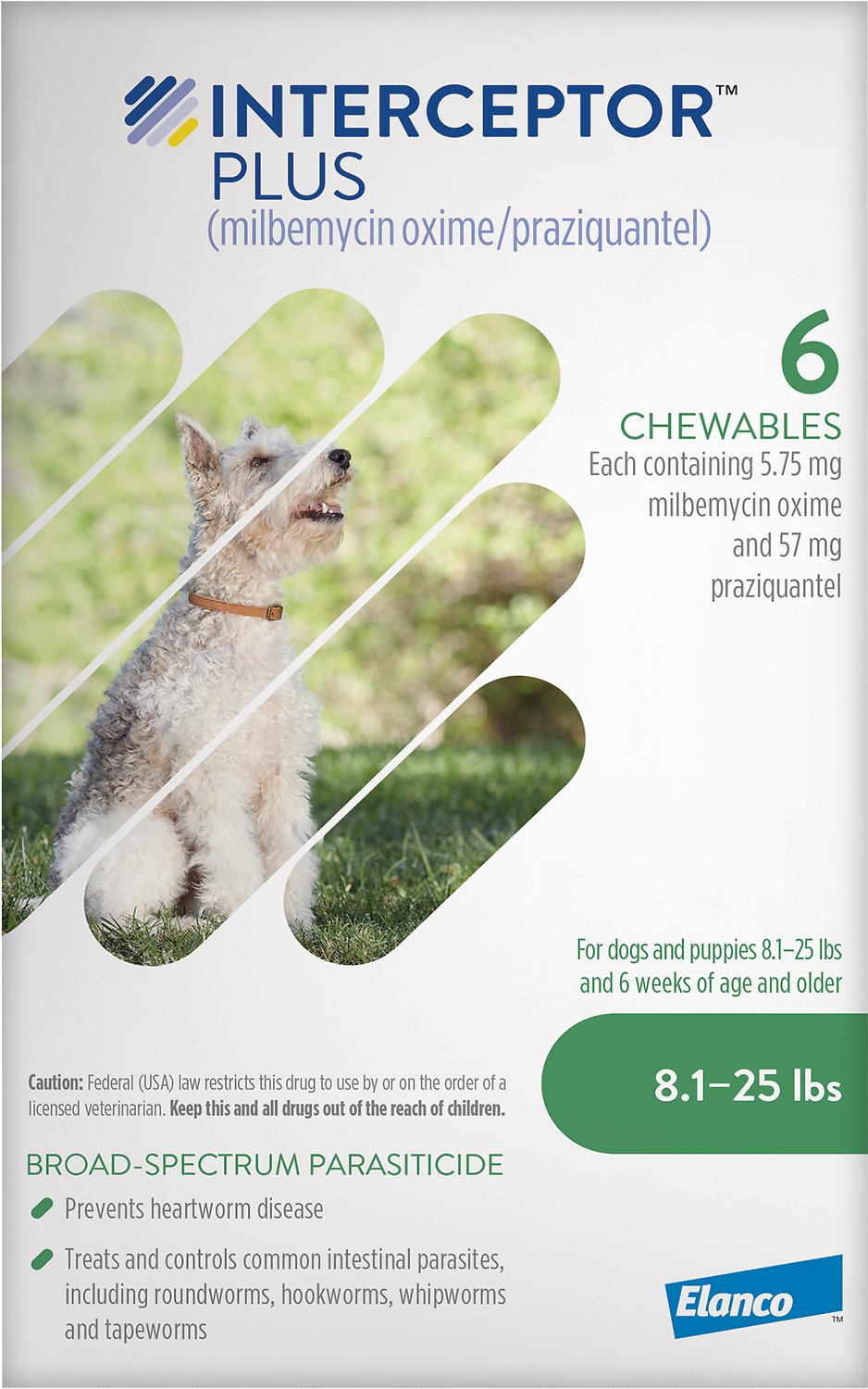 Interceptor Plus Chewable Tablets for Dogs, 8 1-25 lbs, 6 treatments