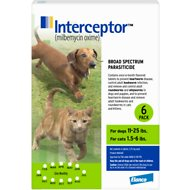 Interceptor Tablets for Dogs 11-25 lbs & Cats 1.5-6 lbs, 6 treatments