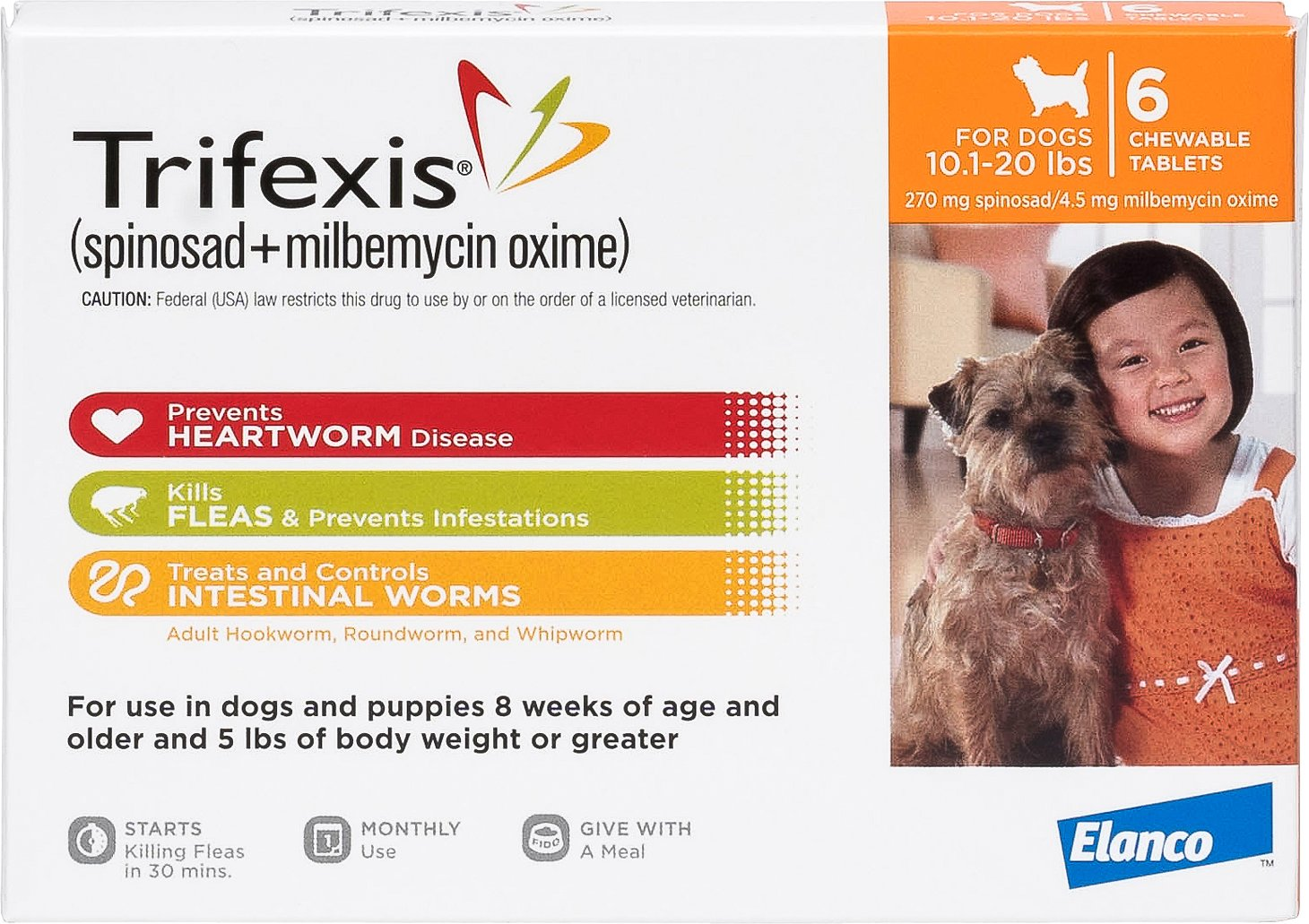Trifexis Chewable Tablets For Dogs 10 1 20 Lbs 6