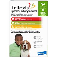 Trifexis Chewable Tablets for Dogs, 20.1-40 lbs, 6 treatments