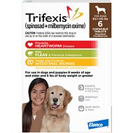 Trifexis Chewable Tablets for Dogs, 60.1-120 lbs, 6 treatments