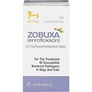 Zobuxa (Enrofloxacin) Tablets for Dogs & Cats, 22.7-mg, 1 tablet