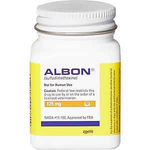 Albon Tablets for Dogs & Cats, 125-mg, 1 tablet