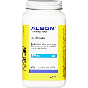 Albon Tablets for Dogs & Cats, 250-mg, 1 tablet