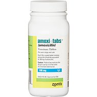 Amoxi-Tabs (Amoxicillin) Tablets for Dogs & Cats, 100-mg, 1 tablet