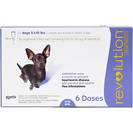Revolution Topical Solution for Dogs, 5.1-10 lbs, 6 treatments