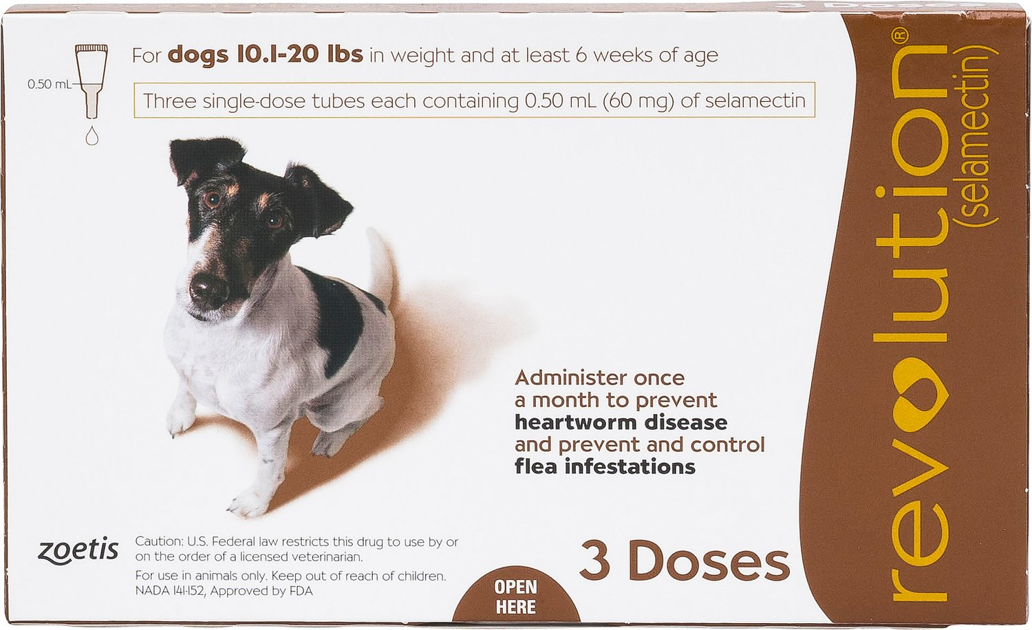 Revolution Topical Solution For Dogs 101 20 Lbs 3 Treatments